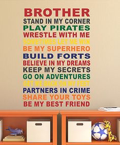 Look what I found on #zulily! 'Brother' Wall Decal #zulilyfinds
