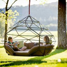 Wow! Love this. Can even put mosquito net around frame to keep bugs out!