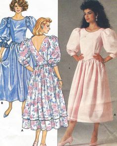 80s Butterick Sewing Pattern 3528 Womens Back by CloesCloset