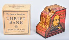 Boxed Marx Benjamin Franklin Bank : Lot 267
