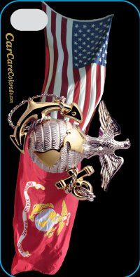 Salute To The Us Marines With The Marine Emblem And The Us
