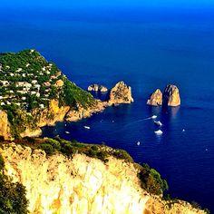 Blue on the Rocks - Capri, Italy Capri Italy, The Rock, Rocks, Water, Blue, Travel, Outdoor, Gripe Water, Outdoors