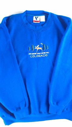 VOS #Colorado Sweatshirt Fleece Blue Mens XL/2XL http://etsy.me/1MruNeI #vintage #clothes #etsy #winter