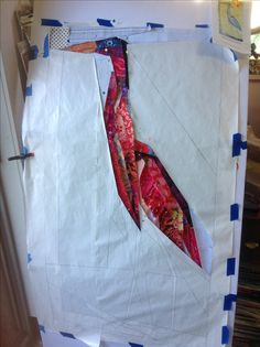 "My ""red herring""heron interpreted from Ann Shaw's pattern"
