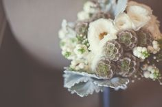 Scabiosa pods bouquet by DivineVines.com photo by Blue Window Creative