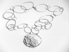 porcelain and silver handmade jewelry necklace by mo atelier made in France