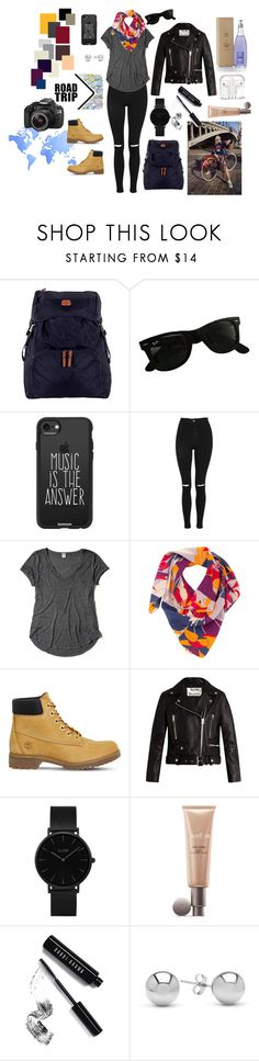 """""""Urbano Natural"""" by agustina-roisman on Polyvore featuring moda, Bric's, Ray-Ban, Sophie Bille Brahe, Eos, Casetify, Topshop, Hollister Co., Taisir Gibreel y Timberland"""