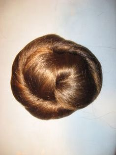 Photo **TUTORIAL** for making your own fake hair-piece for 1850's-1860's ladies (yes, you with the chin-length short hair!)---Click photo and scroll down until you come to the photo of the hair on the ironing board. The time and effort for good-looking hair is SO worth it!