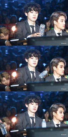 Chanyeol and Kai from EXO