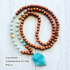 The Calming + Communication Mala carries the Daily AFFIRMATION:: I am awake and open. Amazonite awakens compassion for yourself and others promoting universal love and intuition. Calming aggression and soothing chakras which increasing loving communication and healing. #gemstonejewelry #crystalsandgemstones #malanecklace #mindfulnessmeditation #amazonitegemstone #bohojewelry Gemstone Earrings, Beaded Necklace, Stud Earrings, Necklaces, Boho Jewelry, Handmade Jewelry, Crystals And Gemstones, Affirmation, Chakras