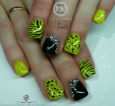 Lime Green Nails- bellashoot.com