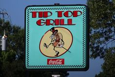 """ALABAMA, Hoover - 10 Unique Alabama Restaurants #10 Tip Top Grill - You can enjoy a fantastic view from this unique restaurant that was once an old historic service station. Tip Top Grill is located at: 588 Shades Crest Road, Hoover (Birmingham), AL 35226.  Jan Mills Warren · University of Alabama said """"TipTop Grill offers a beautiful sunset view too! AND across the street is a great live music venue...Moonlight on the Mountain! Enjoy both!"""""""