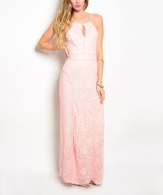 Look at this Pink Keyhole Maxi Dress on #zulily today!