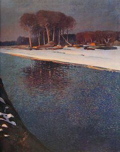 Vladimir Filakovac    A View of the Drava river, 1924