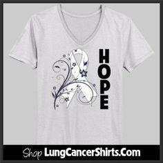 Lung Cancer Awareness Butterfly shirts, apparel and tees by… Lung Cancer Awareness Month, Cancer Awareness Shirts, Diabetes Awareness, Lung Cancer Causes, Prostate Cancer, Krebs Tattoo, Cancer Ribbon Tattoos, Butterfly Shirts, Relay For Life