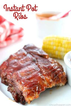 Instant Pot Ribs- so quick and easy to make. You can serve fall off the bone ribs in no time at all. #InstantPot