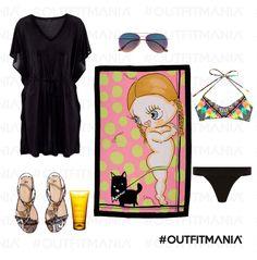 Mare   Abito corto in cotone, un costume combinato con stampa etno-geometrica...    #outfitmania #outfit #style #fashion #dresscode #amazing #cool #musthave #dress #sandali #sea #bikini #telo #H&M #claris #cremasolare #Dsquared2   CLICCA SULLA FOTO PER SCOPRIRE L'OUTFIT E COME ACQUISTARLO