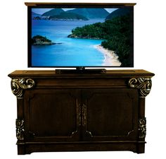 le bloc wenge hidden tv lift furniture furniture pinterest big screen tv hidden tv cabinet and hide tv