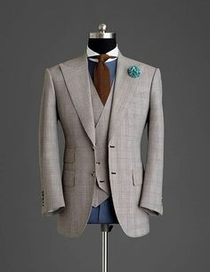 Style & Suits by Mens Fashion Suits, Mens Suits, Blazer Outfits Men, Designer Suits For Men, Gq Style, Mens Gear, Moda Emo, Suit And Tie, Well Dressed Men