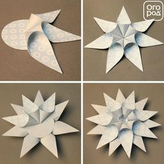 32 Cute And Simple Paper Art For Christmas : You can put those ornaments on the dinner table, over the door or at the entrance-hall. Paper Christmas Ornaments, Christmas Craft Projects, Christmas Origami, Christmas Activities, Christmas Art, Holiday Crafts, Diy Snowflake Decorations, Christmas Decorations, Paper Art