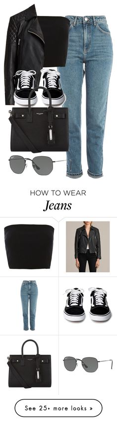 """Sin título #14376"" by vany-alvarado on Polyvore featuring Topshop, AllSaints, Yves Saint Laurent and Ray-Ban"