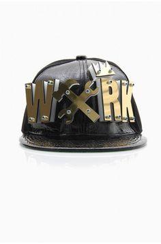 LoveMelrose.com From Harry & Molly | WXRK Snapback Hat - Black / Gold
