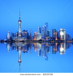 shanghai - I worked in one of the buildings shown - had a great view of the water.