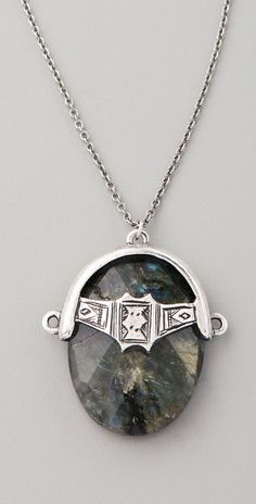 Low Luv X Erin Wasson Labradorite Afghani Toggle Necklace thestylecure.com