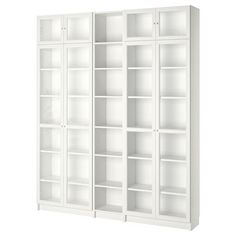 "BILLY / OXBERG Bookcase with glass doors, white, 47 1/4x11 3/4x79 1/2"" - IKEA"