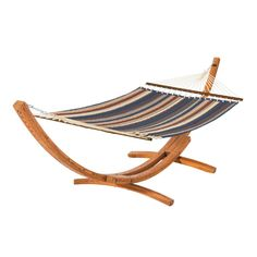 Fadesafe Quilted Hammock with Wood Stand - Heather Indigo Blue Multi Stripe - Classic Accessories Montlake. Fadesafe Quilted Hammock with Wood Stand - Heather Indigo Blue Multi Stripe - Classic Accessories Montlake Outdoor Chairs, Outdoor Furniture, Outdoor Decor, Outdoor Living, Patio Accessories, Double Hammock, Striped Quilt, Hammock Stand, Hammock Bed