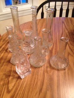A lot of Vintage glass vases by JayneesJems on Etsy, $21.50