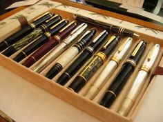 Beautiful Montblanc collection (Blade Runner) fountain pens like no other.