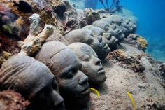 Let's just sit around and chat!: Creepy Underwater Sculpture Park