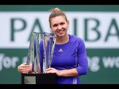 Simona Halep vs Jelena Jankovic at 2015 BNP Paribas Open Final