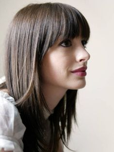 Medium Length Hair With Straight Bangs