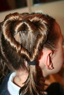 Valentine's Day hair do for A.
