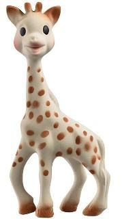 Apparently Sophie the Giraffe is the hot new baby gift. Thus, purchasing for a baby shower.