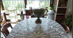szydełkowy obrus , gałązki,liście,retro Crochet Tablecloth Pattern, Crochet Patterns, Mantel Redondo, Oval Tablecloth, Crochet Circles, Table Covers, Doilies, Ravelry, Decor