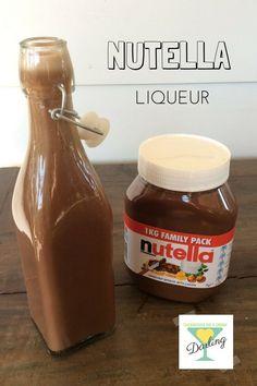 nutella liqueur: Its a no brainer, Nutella and vodka Nutella Smoothie, Nutella Milkshake, Vodka Recipes, Milkshake Recipes, Nutella Gifts, How To Make Nutella, Nutella Spread, Alcohol, Liqueur