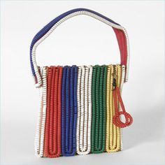 A cool purse made from old telephone cords.  Www.modbag.com