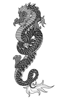 Cool Chinese dragon vector clip 2