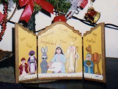 Tríptico navideño - pesebre. Health, Nativity Sets, Xmas