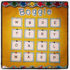 """Classroom DIY: DIY Boggle! (The """"how to"""" and a freebie download for the letters!)"""