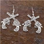 Rhinestone Pistol Earrings