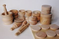 Natural Organic Wooden Toy Set Waldorf Wood Toys by applenamos