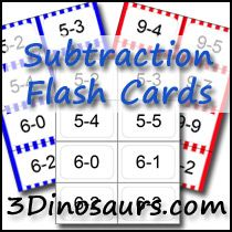 Ways to add for 7, 8, 9 & 10 Plus Subtraction Cards from 1-10 and Small Addition & Subtraction cards - 3Dinosaurs.com