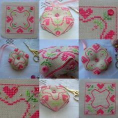 grille de biscornu st valentin avec perles et points spéciaux