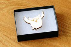 Owl Brooch - £12 - Stitch-Ink
