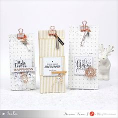 Le blog de tacha: Petits paquets jolis jolis Christmas Gift Bags, Scrapbooking, Boutique, Diy And Crafts, Place Card Holders, Gift Wrapping, How To Make, Boxes For Gifts, Tiny Gifts