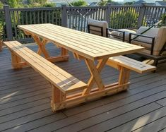 Simple Picnic Table Plans 2x4 Outdoor Furniture DIY easy to | Etsy Folding Picnic Table Bench, Picnic Table Plans, Diy Picnic Table, Beer Table, Diy Bench, Garden Bench Plans, Rustic Bathroom Vanities, Outdoor Side Table, Diy Outdoor Furniture